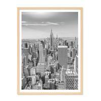 Poster 'New York City' 30x40 cm schwarz-weiss Landkarte Skyline – Bild 6