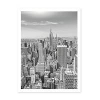 Poster 'New York City' 30x40 cm schwarz-weiss Landkarte Skyline – Bild 2