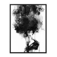 Design-Poster 'Woman' 30x40 cm schwarz-weiss Motiv Frau Aquarell – Bild 3