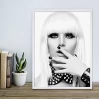 Poster 'Blonde Frau' 30x40 cm schwarz-weiss Foto Fashion Porträt – Bild 4