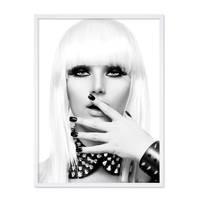 Poster 'Blonde Frau' 30x40 cm schwarz-weiss Foto Fashion Porträt – Bild 5