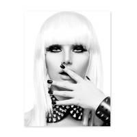 Poster 'Blonde Frau' 30x40 cm schwarz-weiss Foto Fashion Porträt – Bild 2