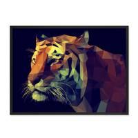 Design-Poster 'Tiger' 30x40 cm Motiv Abstrakt Tigerkopf – Bild 3