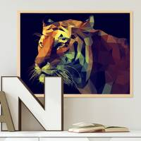 Design-Poster Tiger 30x40 cm Motiv Abstrakt Tigerkopf