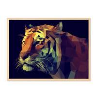 Design-Poster 'Tiger' 30x40 cm Motiv Abstrakt Tigerkopf – Bild 5