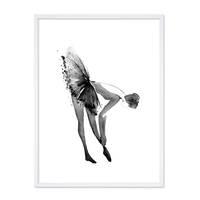 Design-Poster 'Ballerina' 30x40 cm schwarz-weiss Balletttänzerin – Bild 5