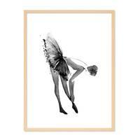 Design-Poster 'Ballerina' 30x40 cm schwarz-weiss Balletttänzerin – Bild 6
