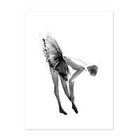 Design-Poster 'Ballerina' 30x40 cm schwarz-weiss Balletttänzerin – Bild 2