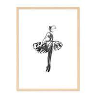 Design-Poster 'Balletttänzerin' 30x40 cm schwarz-weiss Ballerina – Bild 6