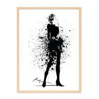 Design-Poster 'Fashion' 30x40 cm schwarz-weiss Frau Splash-Look – Bild 6