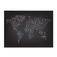 Poster 'Welt Netz' 30x40 cm schwarz-weiss Weltkarte Erde Modern – Bild 3