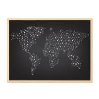 Poster 'Welt Netz' 30x40 cm schwarz-weiss Weltkarte Erde Modern – Bild 5