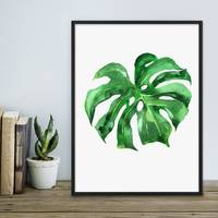 Design-Poster 'Monstera' 30x40 cm Natur Aquarell Blatt Pflanze