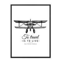 Poster 'To Travel' 30x40 cm schwarz-weiss Motiv Spruch Typographie – Bild 3