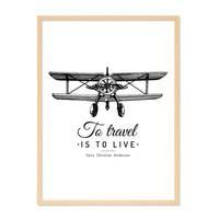 Poster 'To Travel' 30x40 cm schwarz-weiss Motiv Spruch Typographie – Bild 6