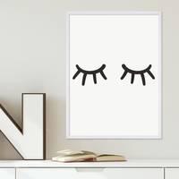 Poster 'Closed Eyes' 30x40 cm schwarz-weiss Augen Minimalistisch – Bild 4