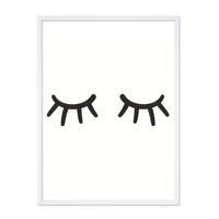 Poster 'Closed Eyes' 30x40 cm schwarz-weiss Augen Minimalistisch – Bild 5