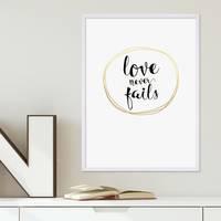 Poster 'Love Circle Gold' 30x40 cm Goldaufdruck Liebe Typographie – Bild 4
