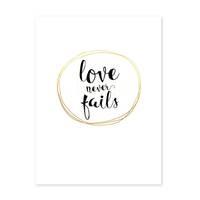 Poster 'Love Circle Gold' 30x40 cm Goldaufdruck Liebe Typographie – Bild 2
