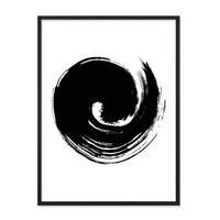 Poster 'Brush Wave' 30x40 cm schwarz-weiss Modern Minimalistisch – Bild 3