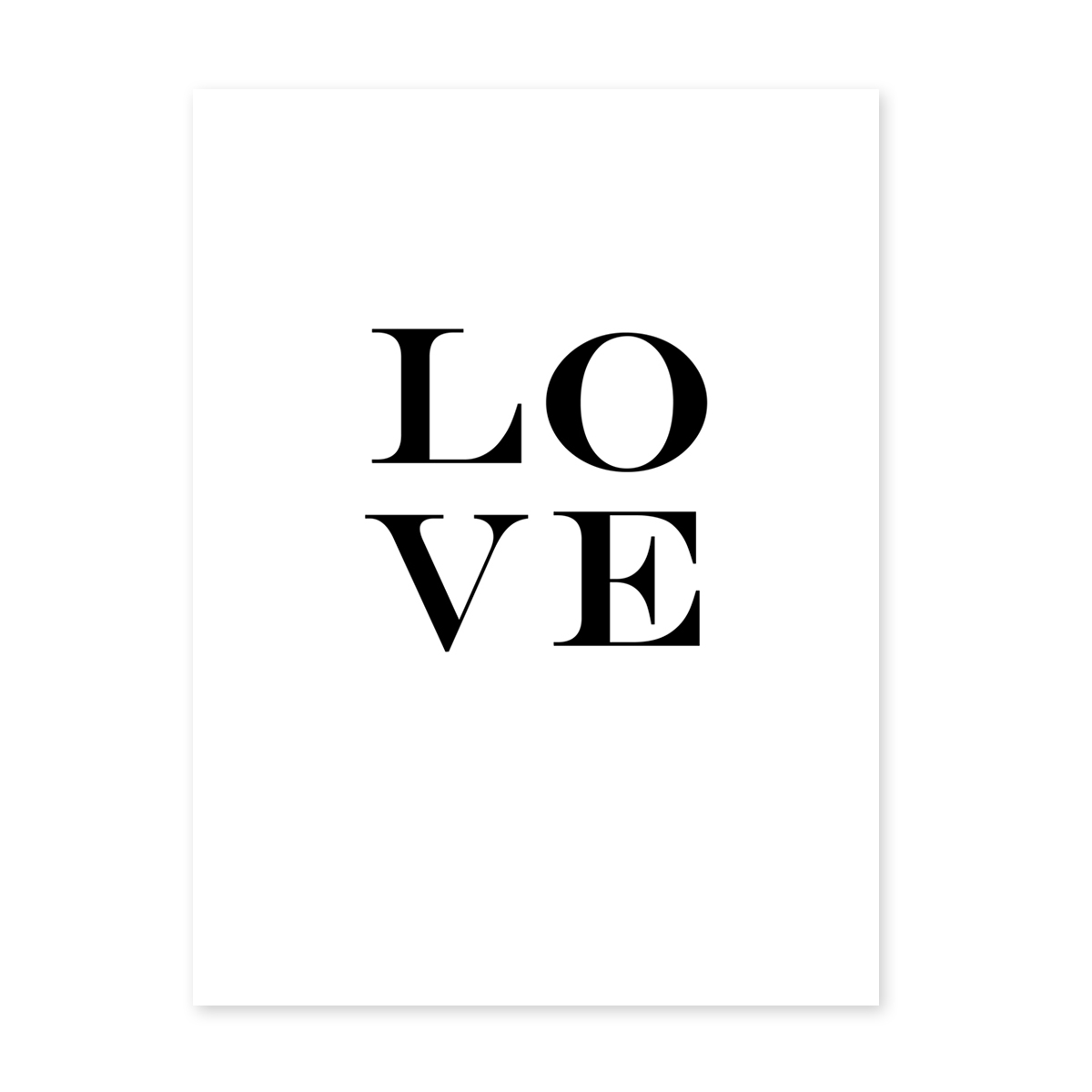 Design Poster Love Letters 30x40 Cm Typographie Liebe Poster