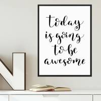 Poster Awesome Day 30x40 cm Typographie Modern Spruch