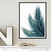 Poster Kokosblätter 30x40 cm Foto Küchenmotiv Abstrakt