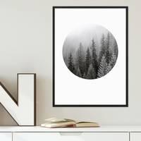Poster 'Tannenwald' 30x40 cm Foto schwarz-weiss Natur Landschaft – Bild 3