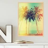 Poster 'Palmen' 30x40 cm Retro Foto Strand Meer – Bild 5