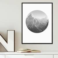Poster Mount Everest 30x40 cm Berge schwarz-weiss Foto Landschaft