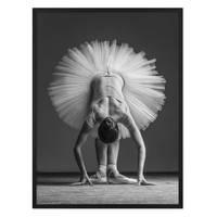 Poster 'Ballerina Pose' 30x40 cm schwarz-weiss Ballet Position – Bild 3