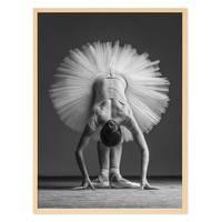 Poster 'Ballerina Pose' 30x40 cm schwarz-weiss Ballet Position – Bild 5