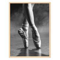 Poster 'Ballett Spitzenschuh' 30x40 cm schwarz-weiss Ballerina – Bild 6