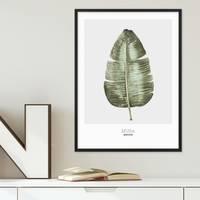 Poster 'Bananenblatt' 30x40 cm Aquarell Optik Küchenmotiv Musa – Bild 4