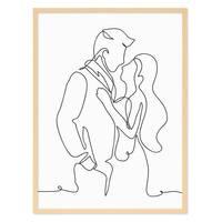 Design-Poster 'Paar Monoline' 30x40 cm schwarz-weiss Linienkunst – Bild 6