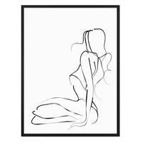 Design-Poster 'Woman Line' 30x40 cm schwarz-weiss Linienkunst – Bild 3