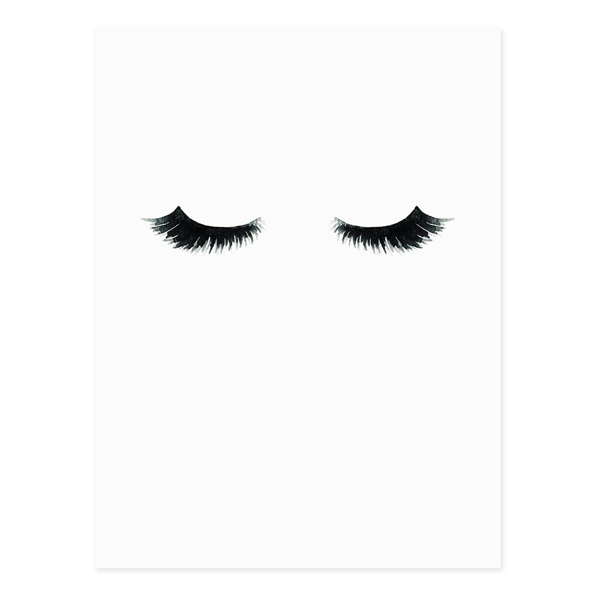 design poster 39 wimpern 39 30x40 cm schwarz weiss aquarell abstrakt poster schwarz weiss. Black Bedroom Furniture Sets. Home Design Ideas