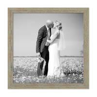 Vintage Bilderrahmen 50x50 cm Grau-Grün Shabby-Chic Massivholz mit Glasscheibe und Zubehör / Fotorahmen / Nostalgierahmen  – Bild 4