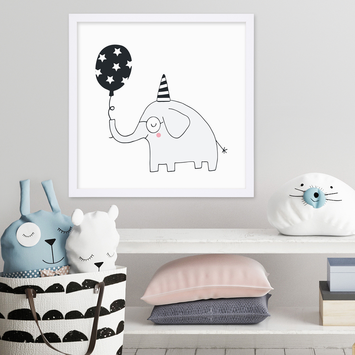 Kinder-Poster Elefant 30x30 cm