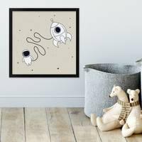 Kinder-Poster Kleiner Astronaut 30x30 cm