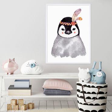 Kinder-Poster 'Pinguin Aquarell' 30x40 cm Kinderzimmer Indianer