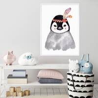 Kinder-Poster 'Pinguin Aquarell' 30x40 cm Kinderzimmer Indianer – Bild 1