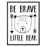 Kinder-Poster 'Little Bear' 30x40 cm Kinderzimmer Spruch Bär – Bild 3