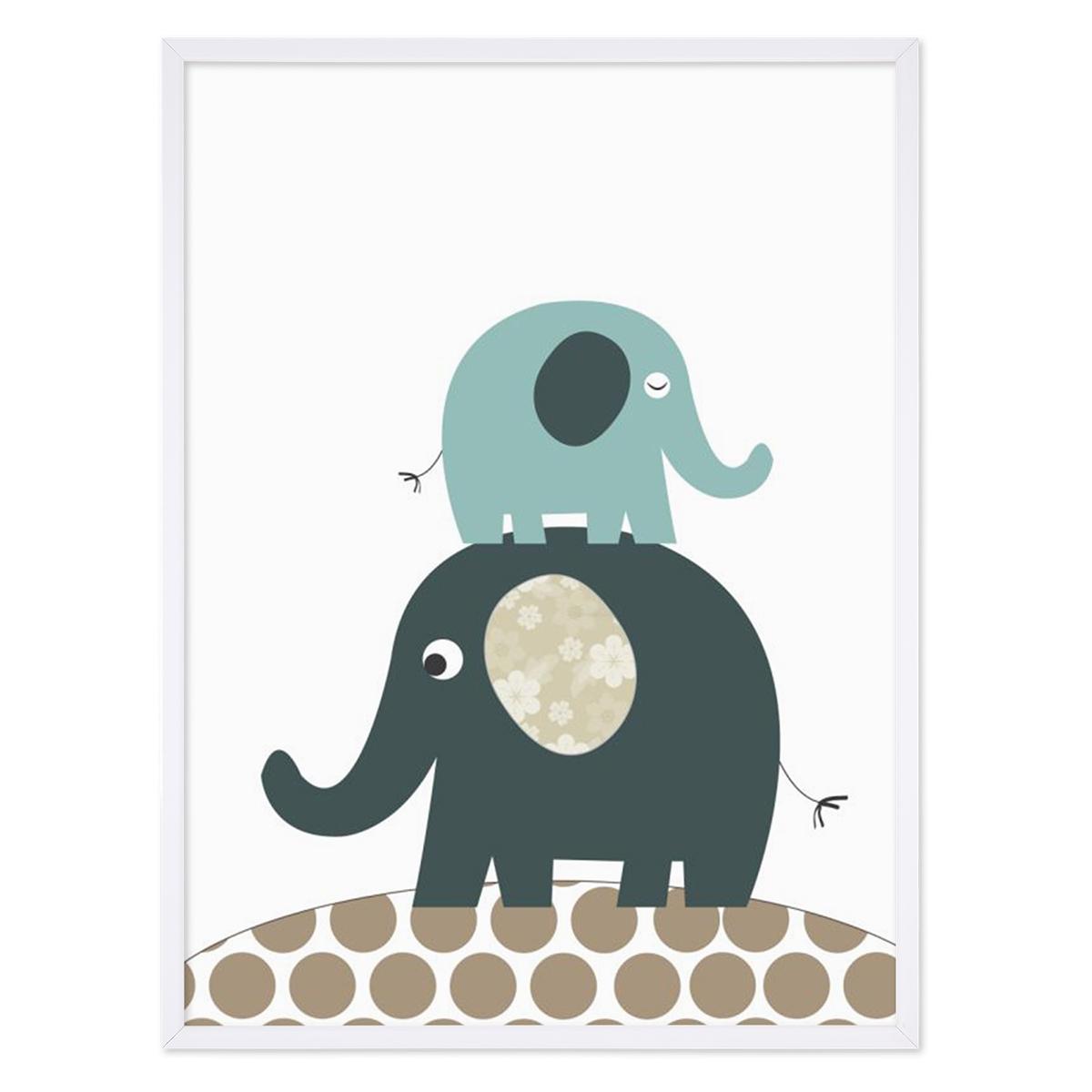 Kinder-Poster Elefanten 30x40 cm