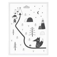 Kinder-Poster 'Indianer' 30x40 cm Kinderzimmer Zeichnung Fuchs – Bild 4