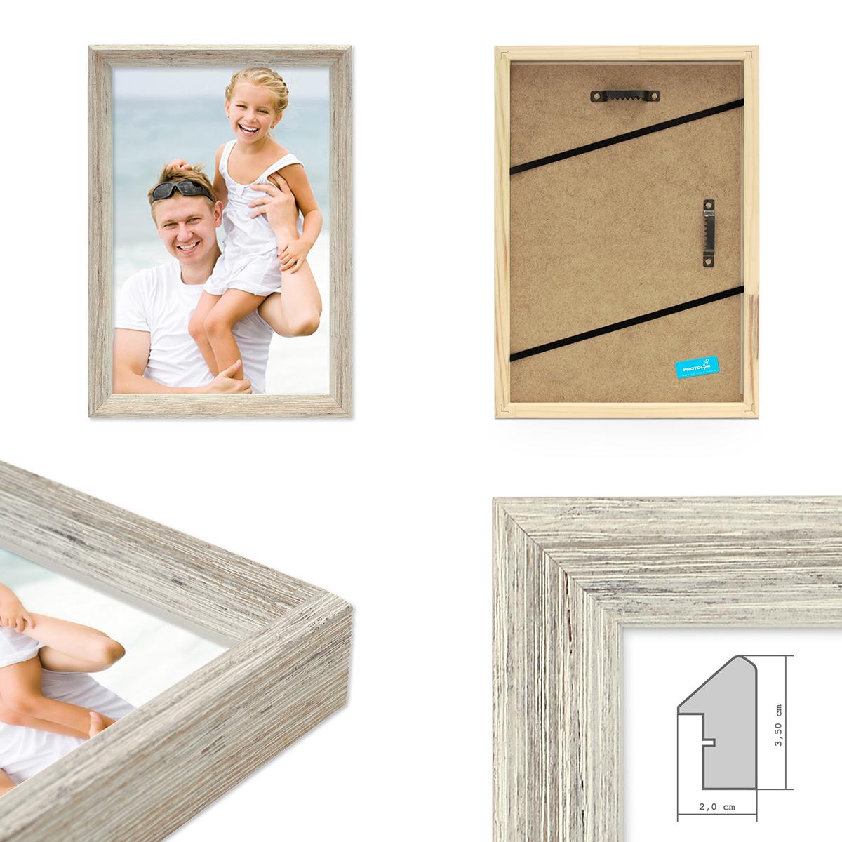 vintage bilderrahmen shabby chic weiss 20x20 cm massivholz mit glasscheibe und zubeh r. Black Bedroom Furniture Sets. Home Design Ideas