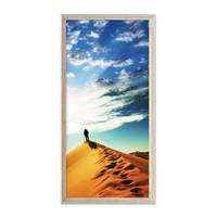 Panorama-Bilderrahmen Vintage Shabby-Chic Weiss 30x60 cm Massivholz mit Glasscheibe und Zubehör / Fotorahmen / Portraitrahmen  – Bild 4