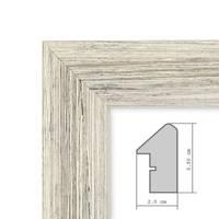 Panorama-Bilderrahmen Vintage Shabby-Chic Weiss 30x60 cm Massivholz mit Glasscheibe und Zubehör / Fotorahmen / Portraitrahmen  – Bild 6
