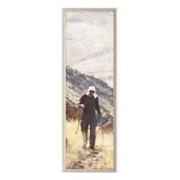 Panorama-Bilderrahmen Vintage Shabby-Chic Weiss 30x90 cm Massivholz mit Acrylglasscheibe und Zubehör / Fotorahmen / Portraitrahmen – Bild 4