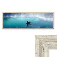 Panorama-Bilderrahmen Vintage Shabby-Chic Weiss 30x90 cm Massivholz mit Acrylglasscheibe und Zubehör / Fotorahmen / Portraitrahmen – Bild 1